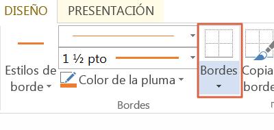 Poner color o estilos de borde en Word paso 2